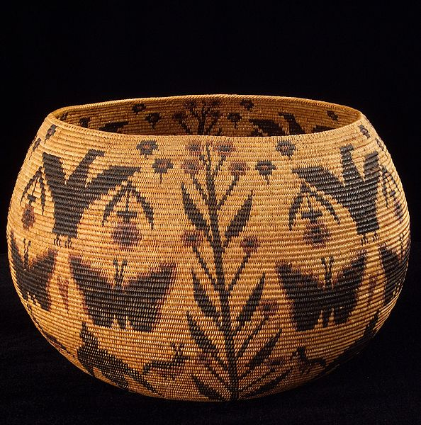 Traditional Native American Basket Weaving : Native american art history work